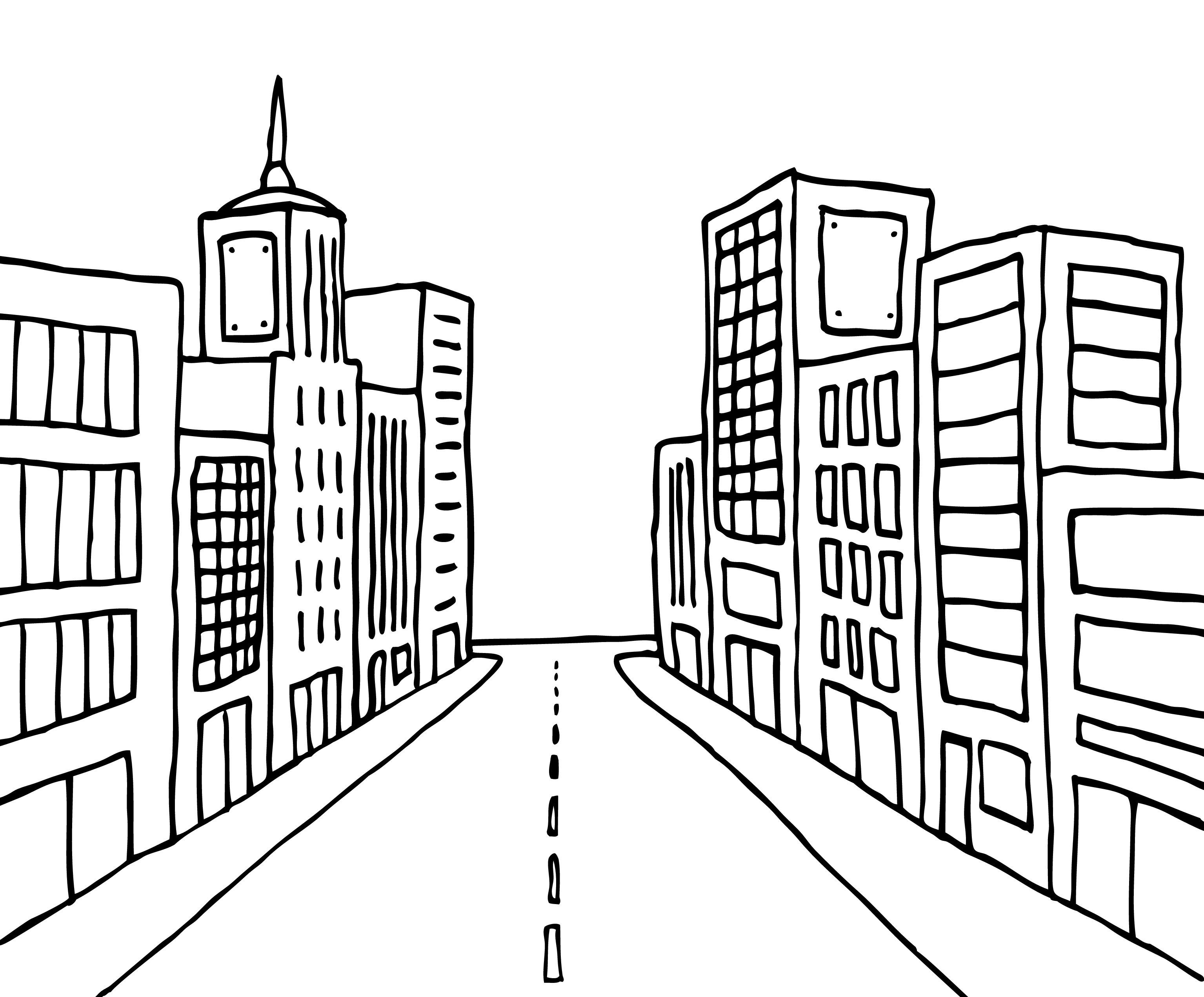 Line Art City : Home is where the impact why geography of offices