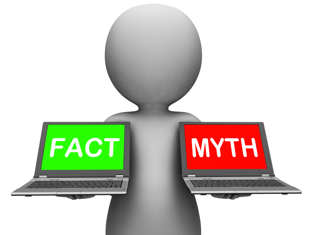 Fact Myth Laptops Show Facts Or Mythology